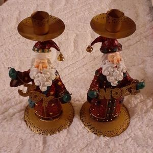 Sta claus candle holder